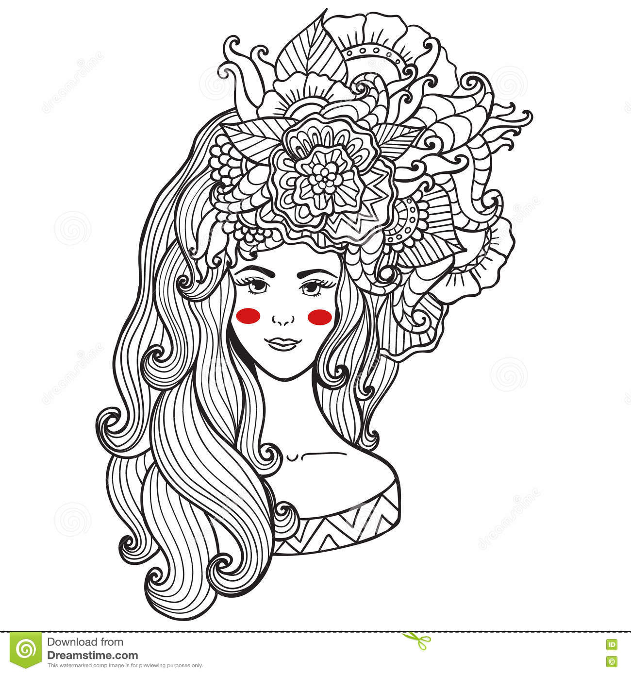 Vector Illustration Card Beauty And Fashion Girl With