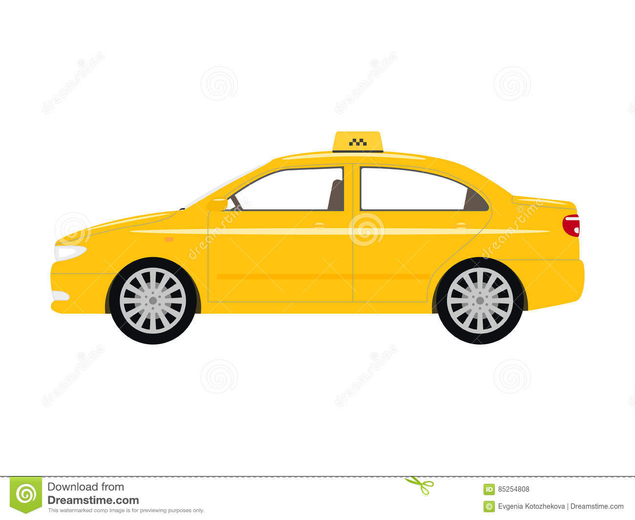 taxi cab side view the image kid has it. Black Bedroom Furniture Sets. Home Design Ideas