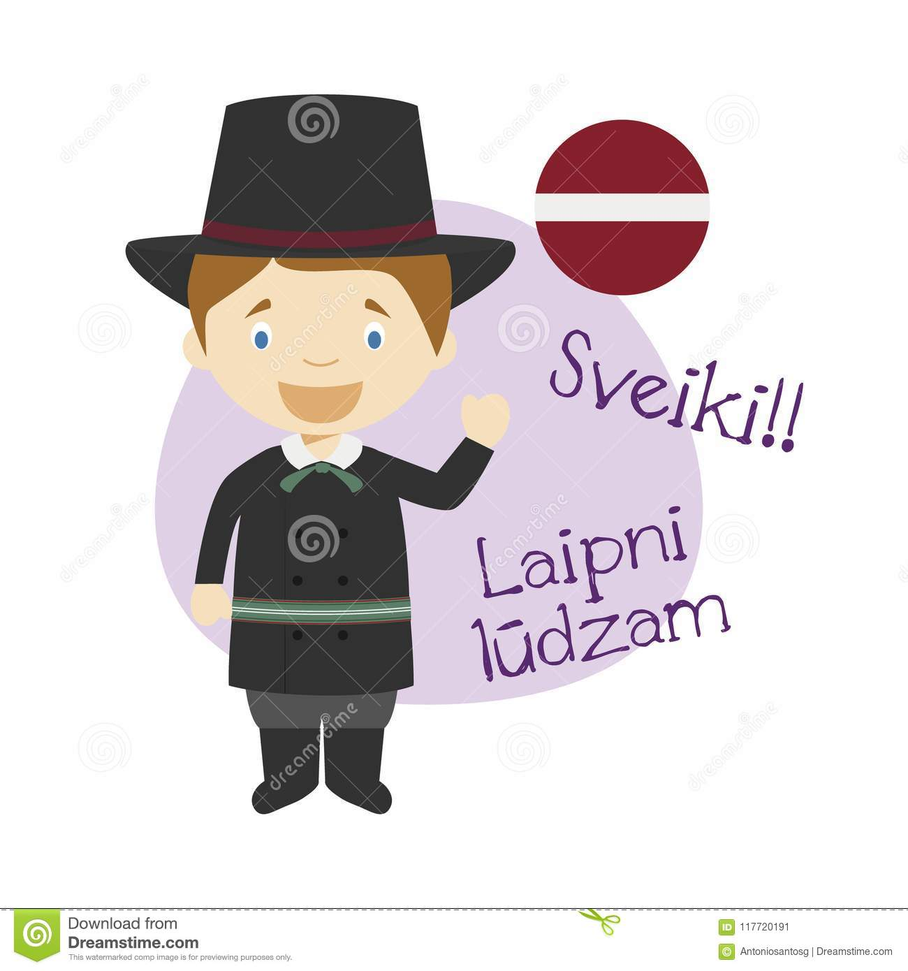 how to say hello in latvian