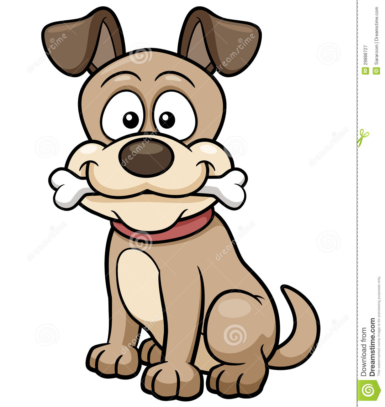 Image of: Vector Cartoon Dog Dreamstimecom Cartoon Dog Stock Vector Illustration Of Excited Pooch 29888727