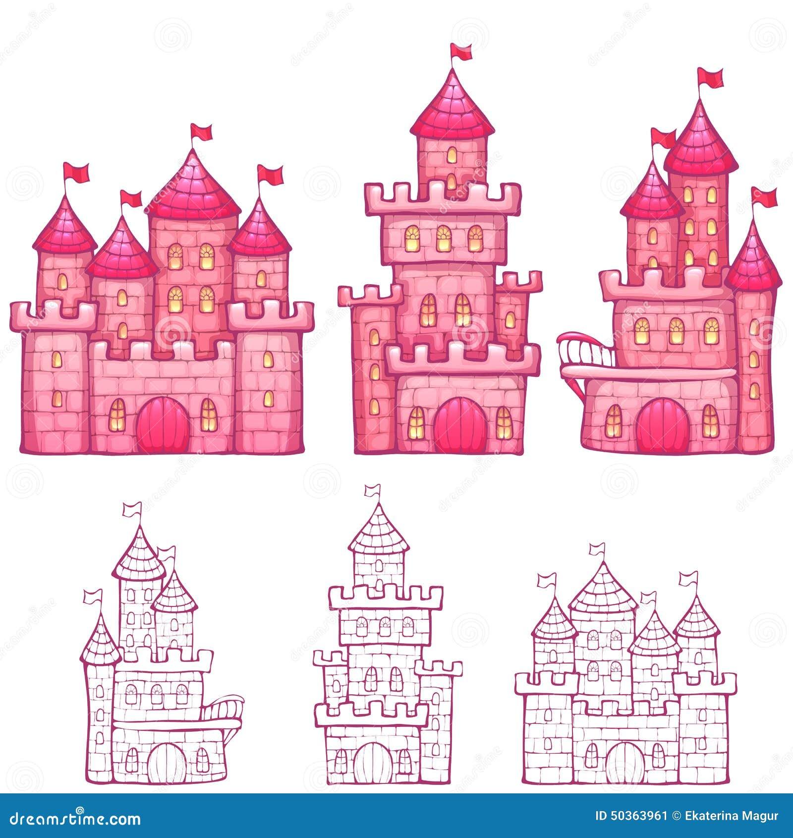Vector Illustration Of Cartoon Fairy Tale Castle Stock Vector ...