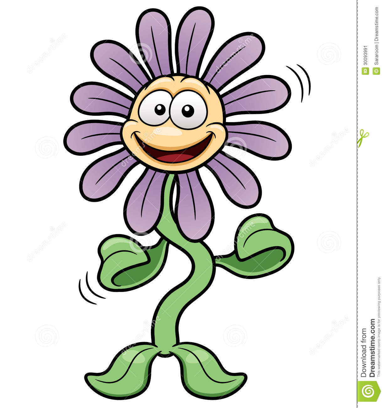 Cartoon Flower Dance Stock Image - Image: 30093991