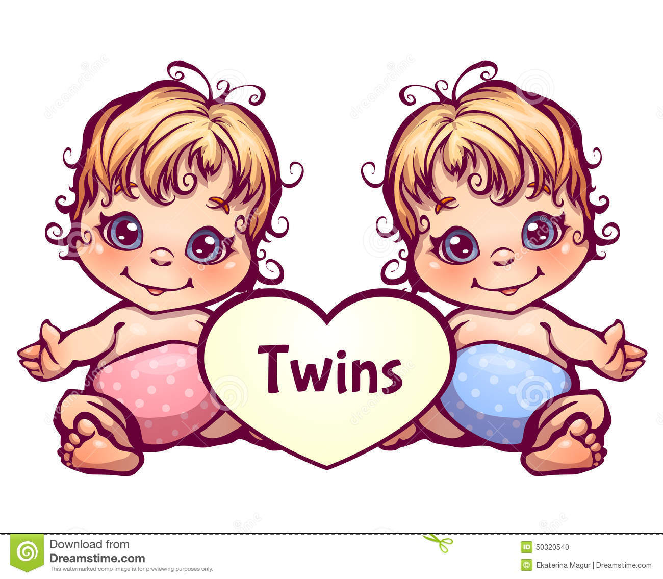 Sweet twins royalty free stock photo image 10320675 - Vector Illustration Of Cartoon Little Baby Twins Stock Photo