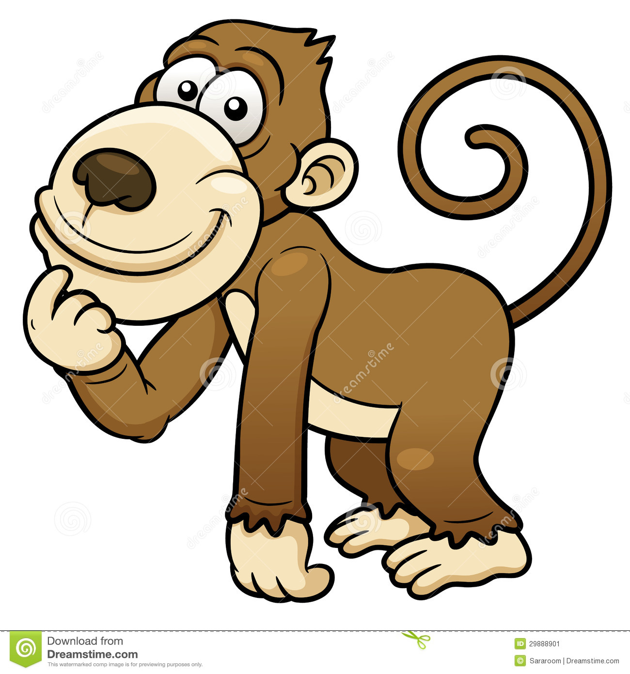 Cartoon Monkey Stock Image - Image: 29888901