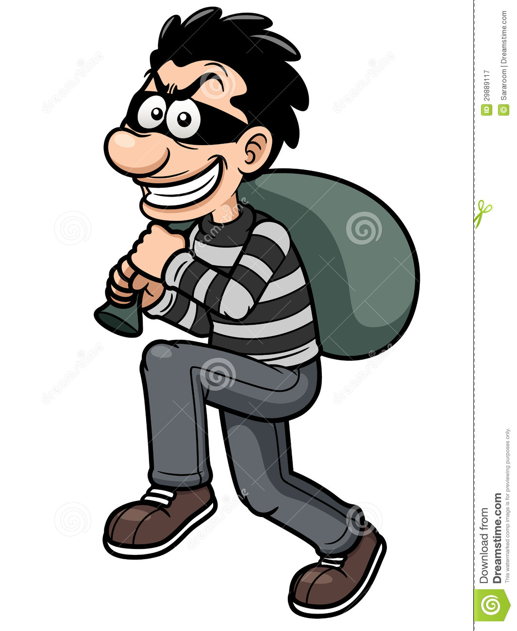 Cartoon Thief Royalty Free Stock Photography - Image: 29889117