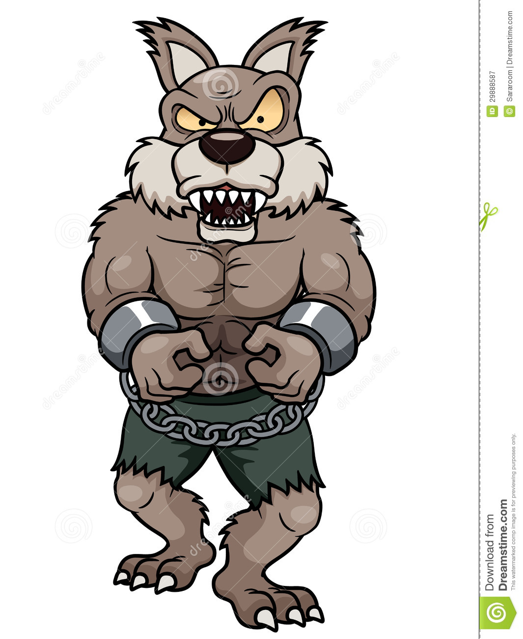 Cartoon Werewolf Royalty Free Stock Photography - Image: 29888587: www.dreamstime.com/royalty-free-stock-photography-vector...