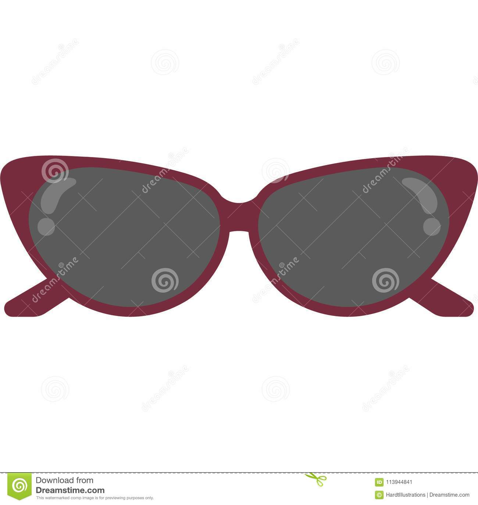 e65e2cf61e9 Cat Eye Sunglasses Vector Illustration Stock Vector - Illustration ...