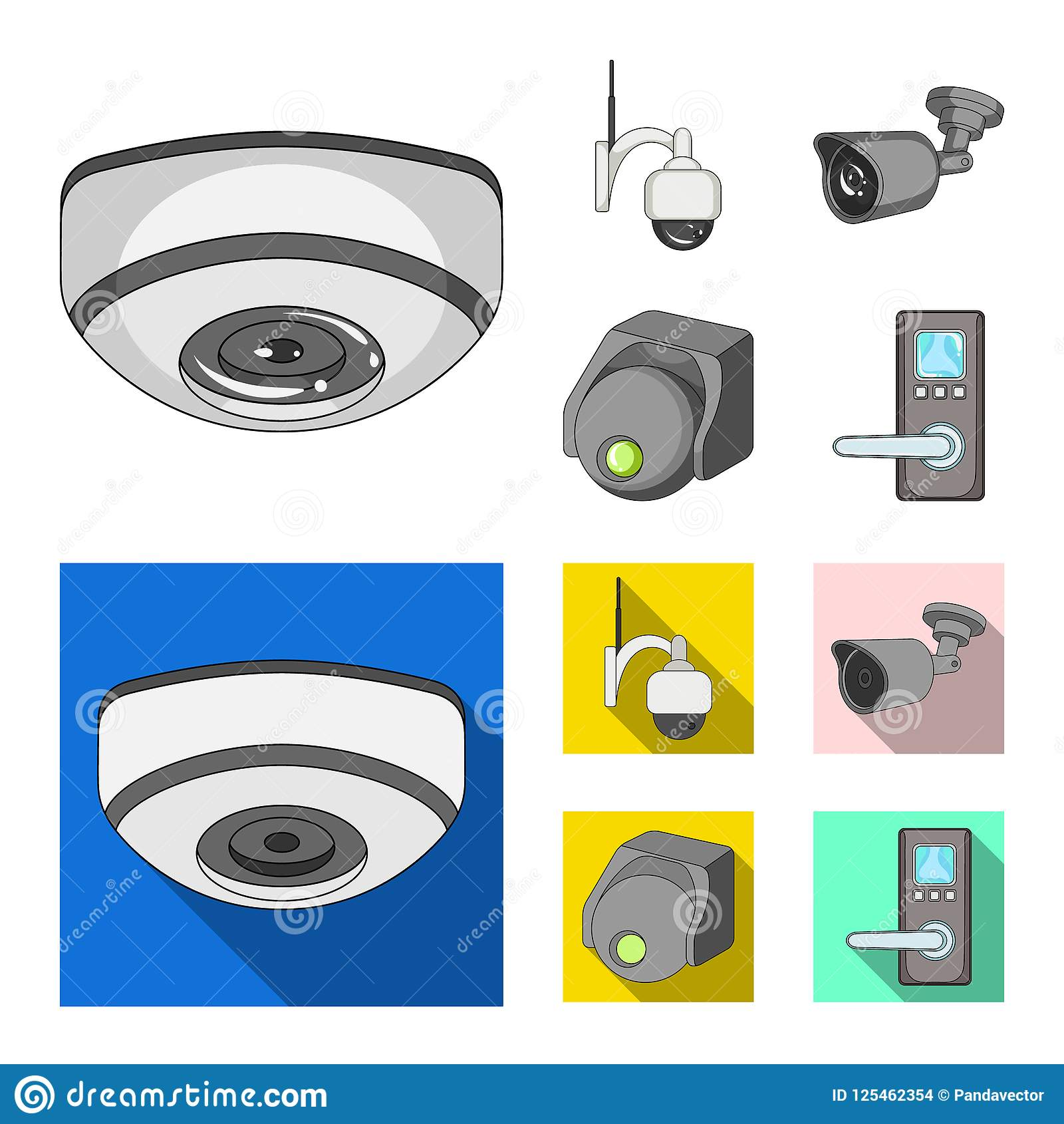 Vector Illustration Of Cctv And Camera Symbol Collection Of Cctv