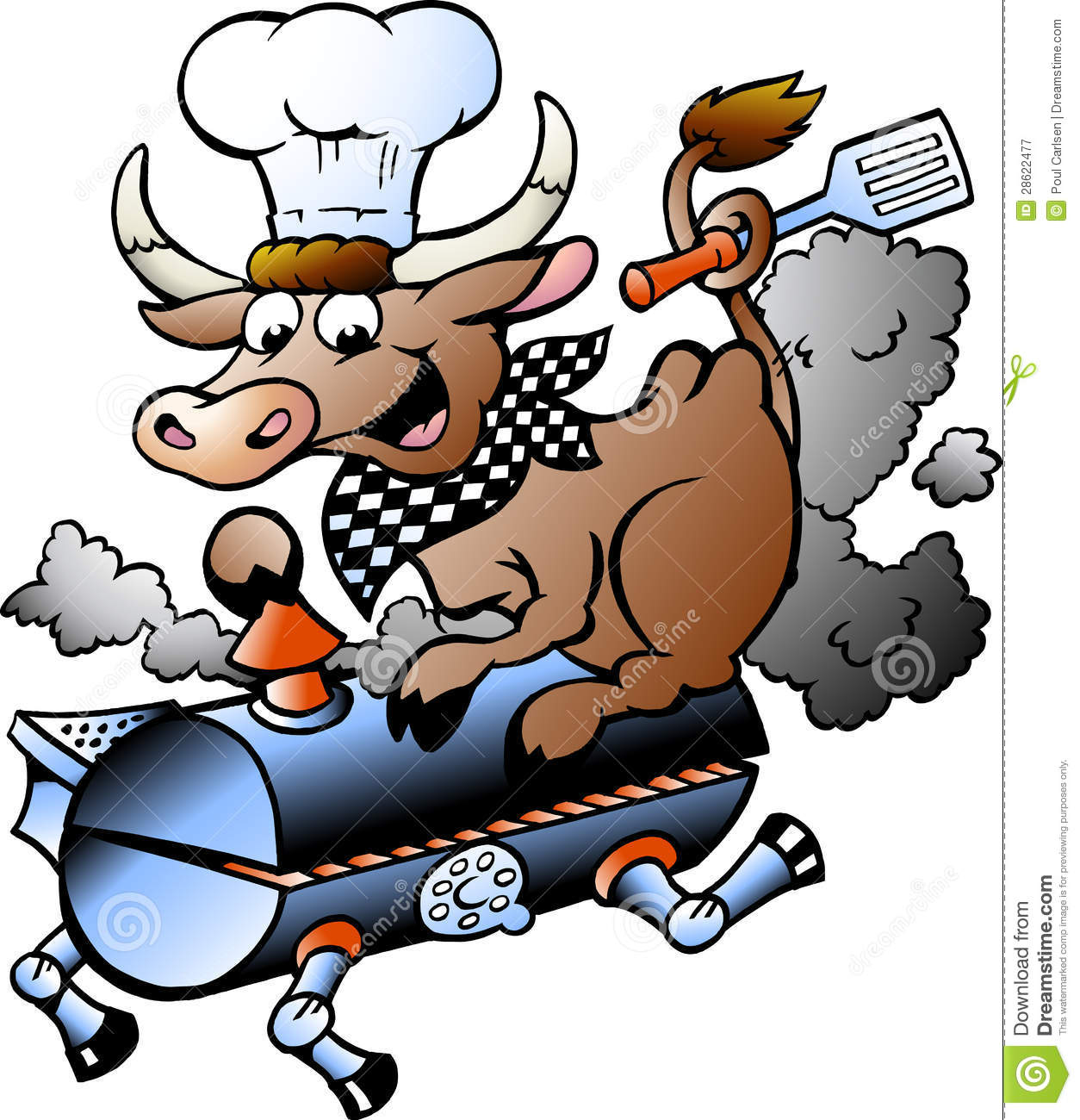 vector illustration of an chef cow riding a bbq barrel bull riding clip art black and white free bull rider clip art