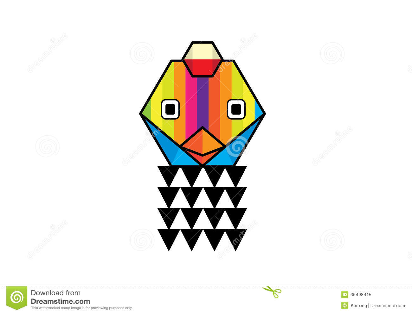 vector illustration of chicken cartoon royalty free stock photo
