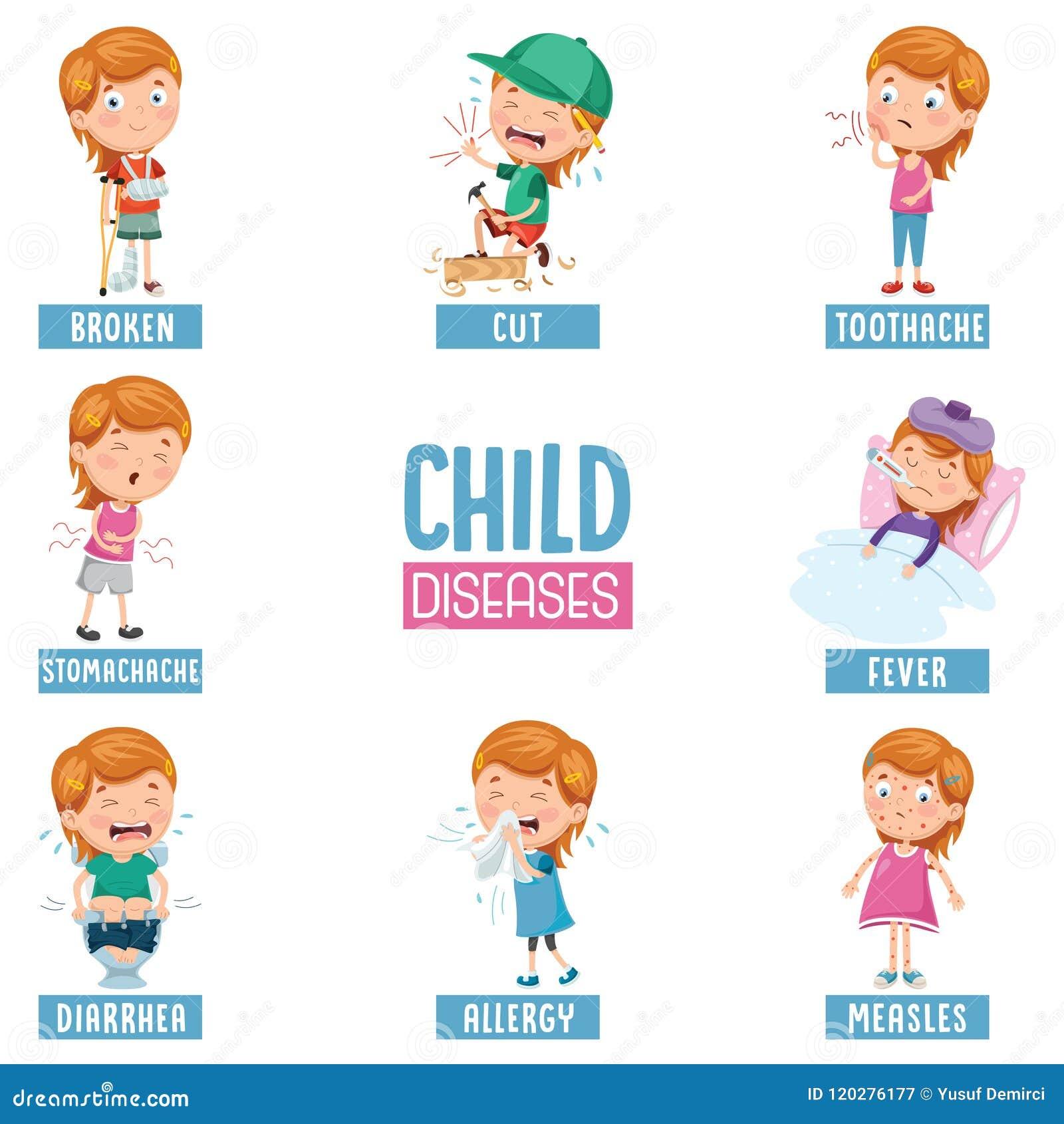 Vector Illustration Of Child Diseases Stock Illustration ...