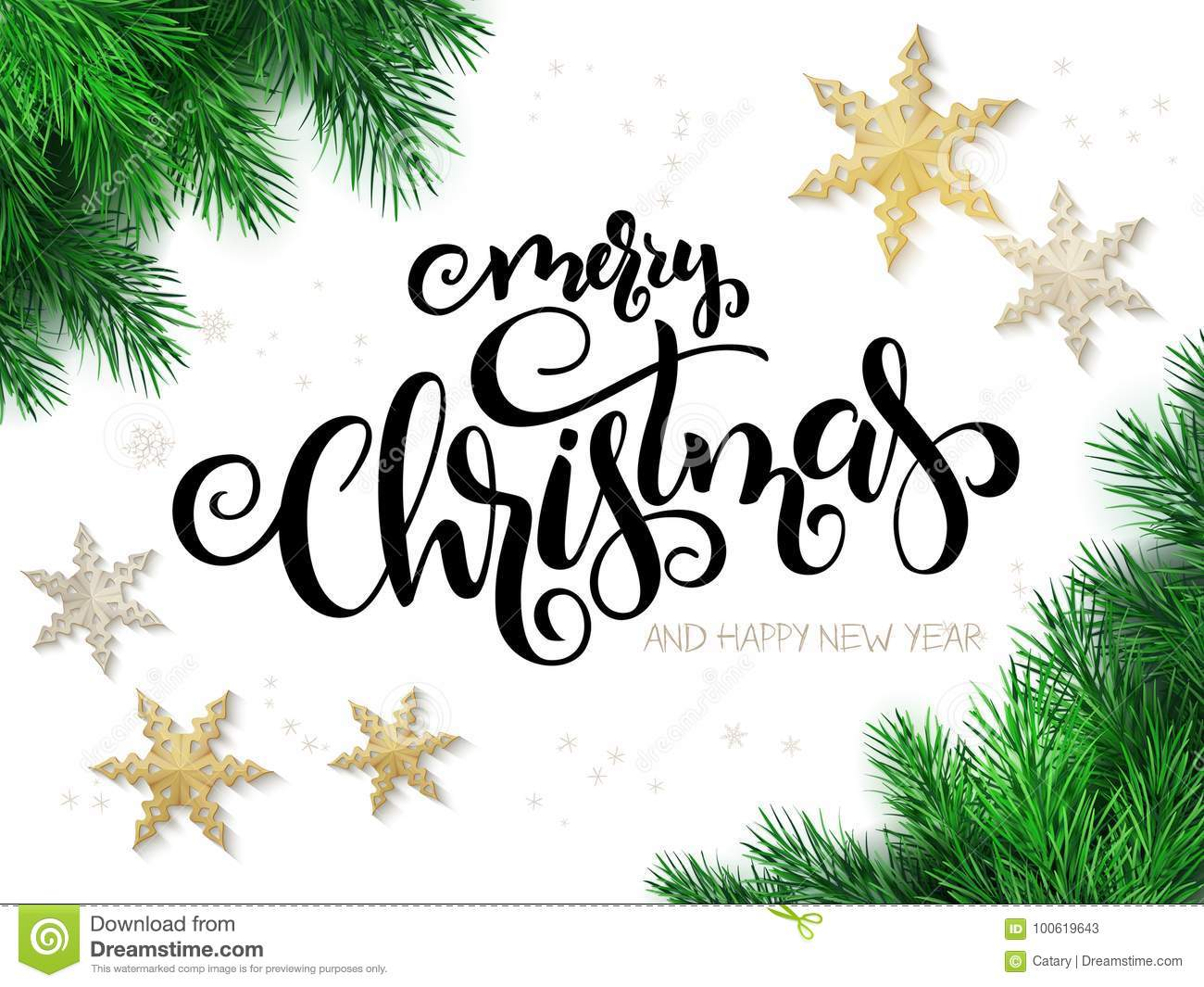 Vector illustration of christmas greeting card with hand lettering download vector illustration of christmas greeting card with hand lettering label merry xmas with m4hsunfo