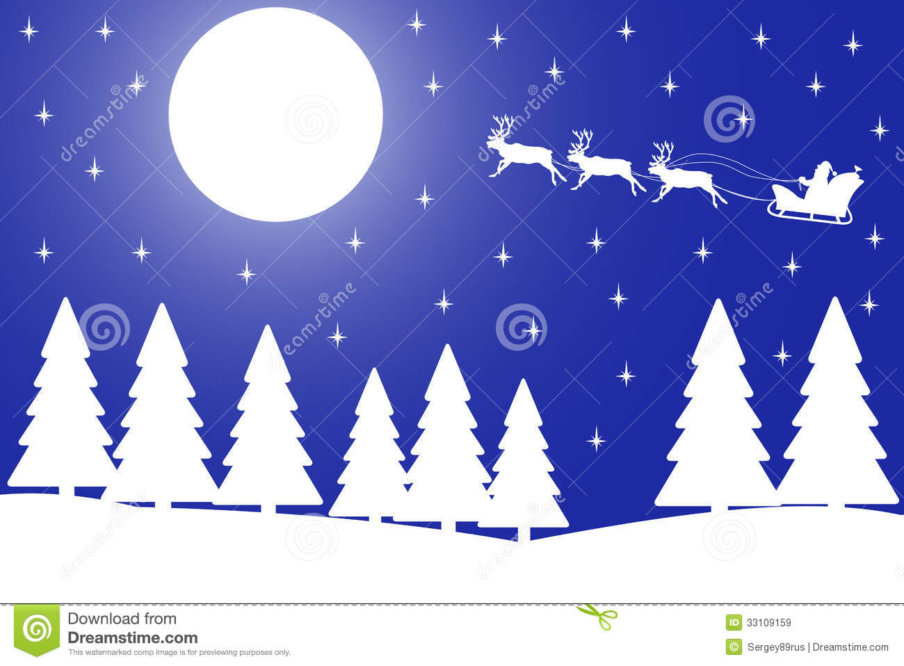 vector illustration of christmas night in the wint royalty free stock images