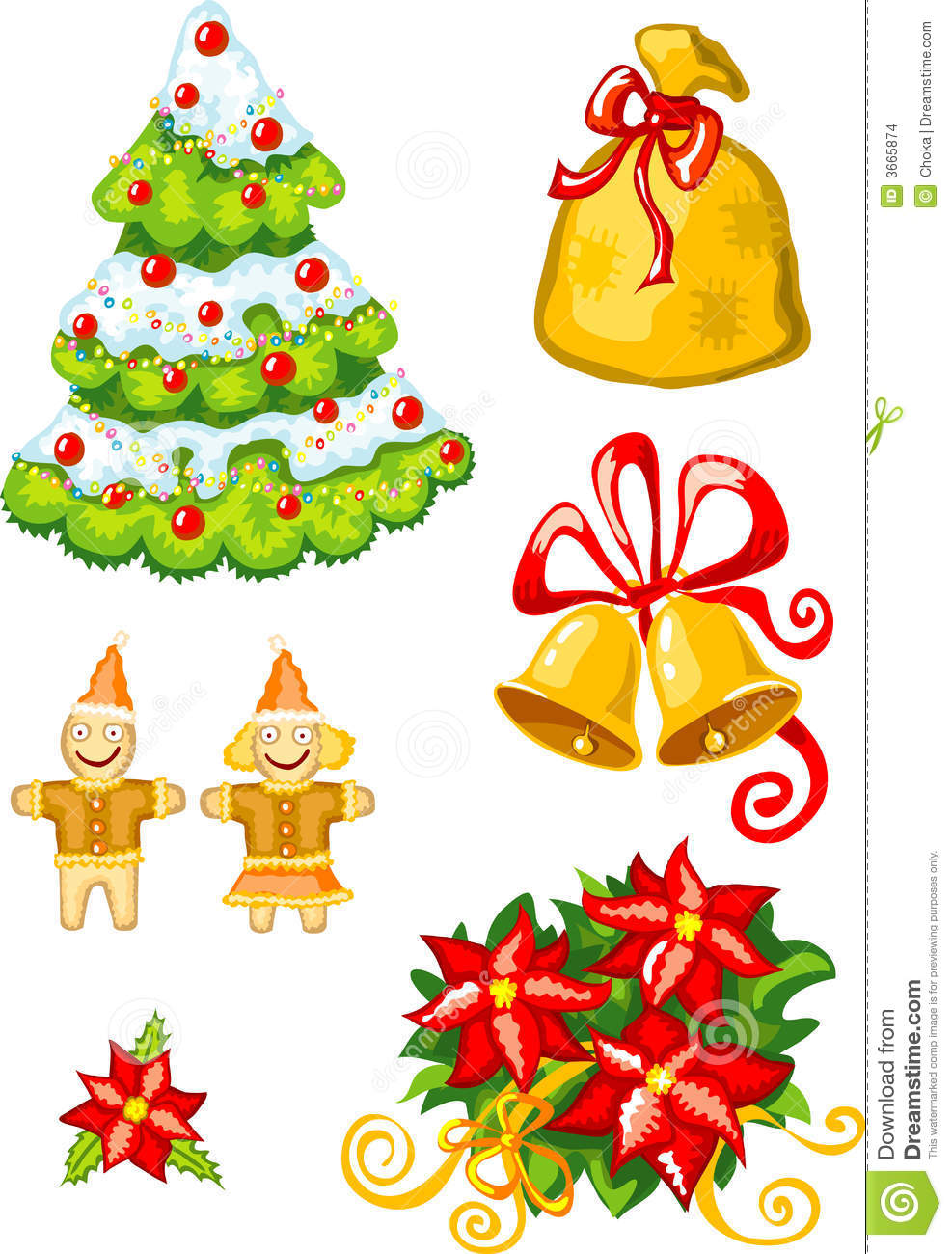 Vector illustration of christmas stuff stock images for Christmas decoration stuff