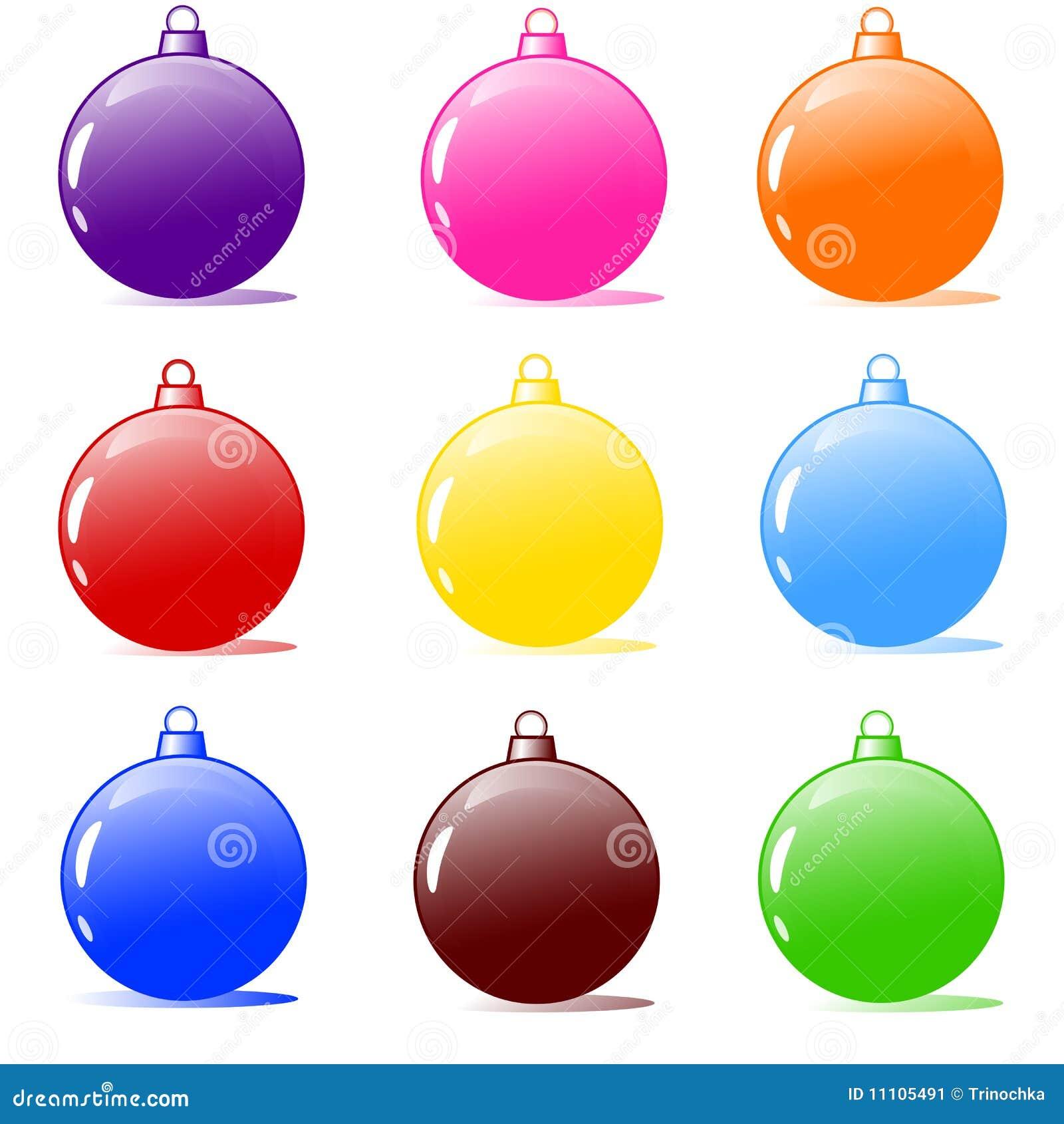 christmas illustration - Christmas Tree Bulbs