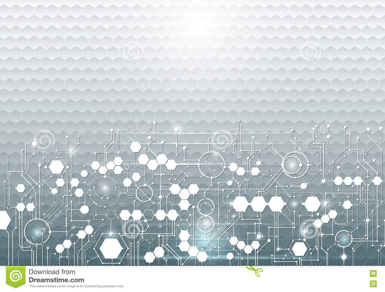Abstract Hexagon Circuit Hi Tech Pattern Technology Innovation Board Design Over Green Background Vector Illustration Concept 79278078