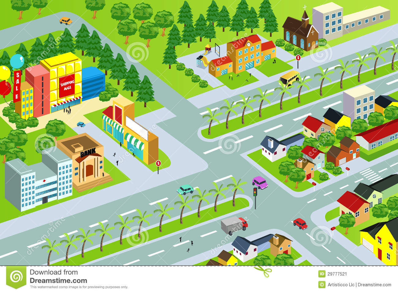 City map stock vector. Illustration of cityscape, housing ...