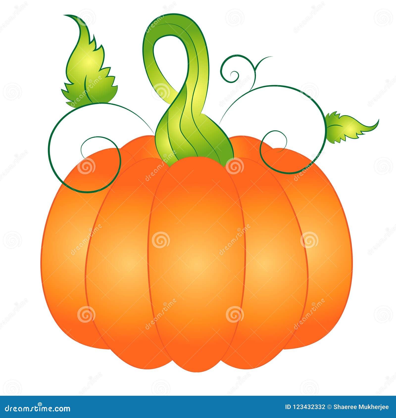 Cartoon Autumn Pumpkin Vector Illustration Clipart Stock ...