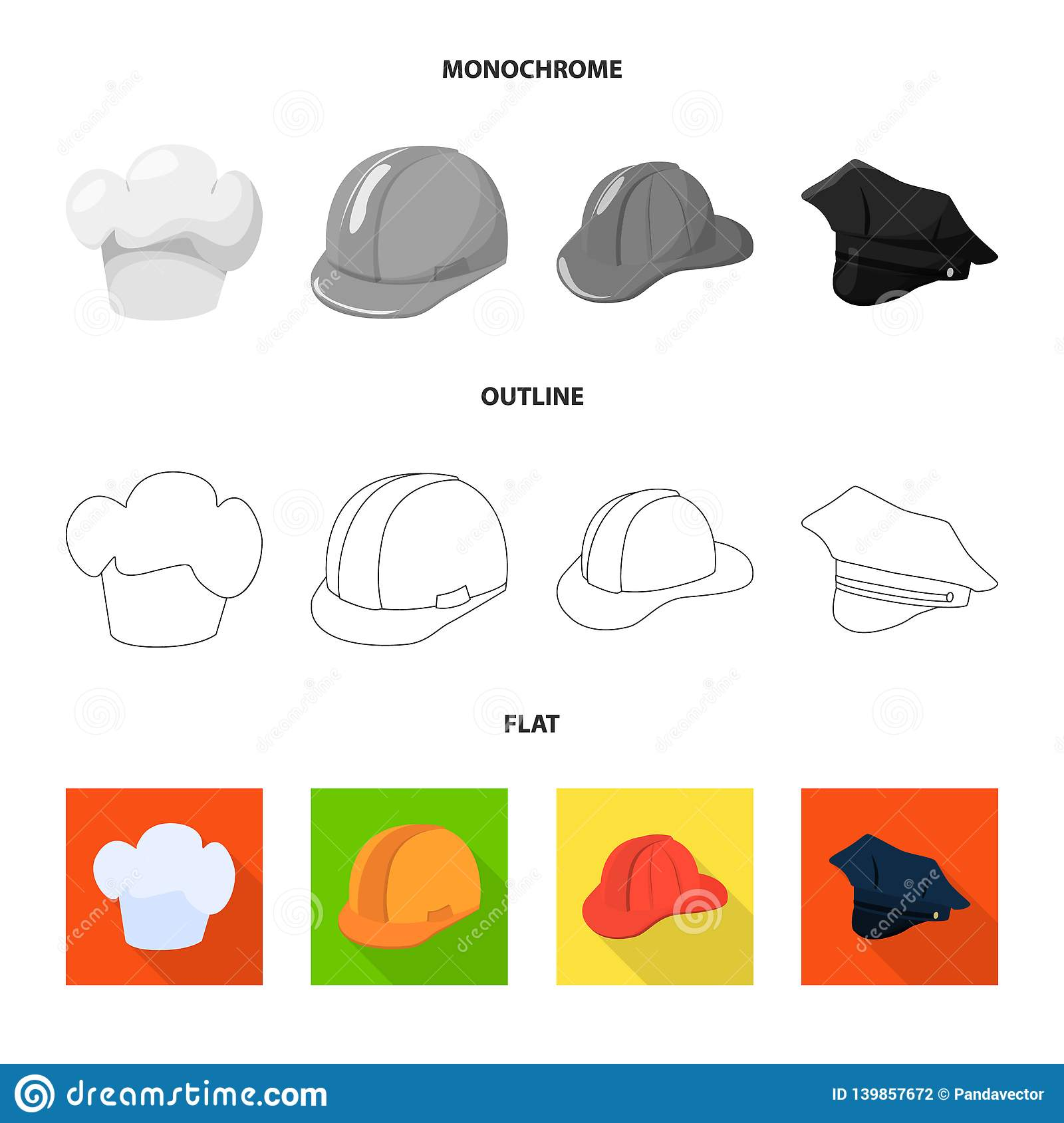 1d9e2700a45 Vector illustration of clothing and cap symbol. Set of clothing and beret vector  icon for stock.