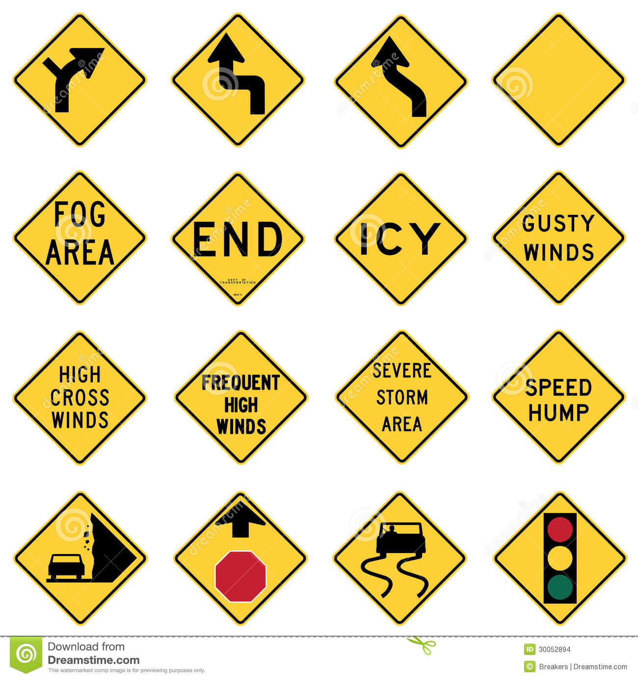 Traffic Warning Signs in the United States