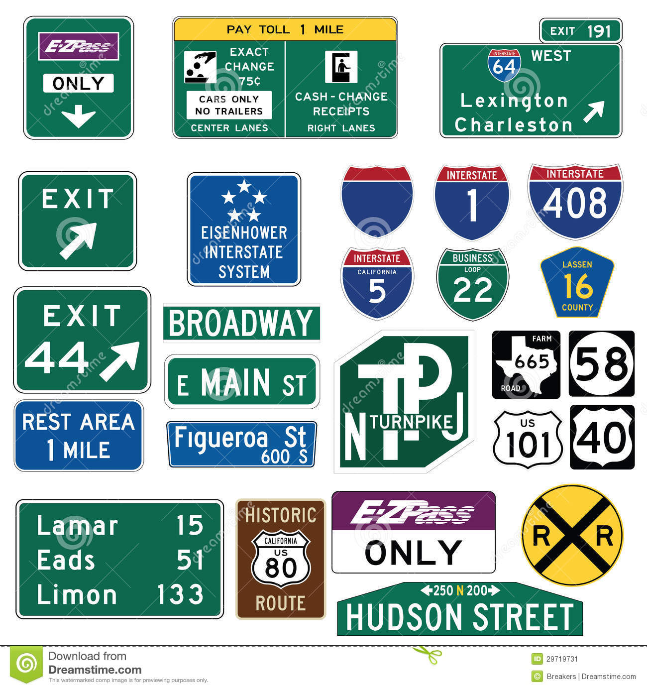 highway map of texas with Stock Image Vector Illustration Collection Select Traffic Signs United States Isolated White Background You Can Find Other Road Signs My Image29719731 on Road Trip From Florida To Alaska further Chicago City Map further Gulf Coast additionally Penn in addition File Amboy  California  USA   Hist  Route 66   2012   1.