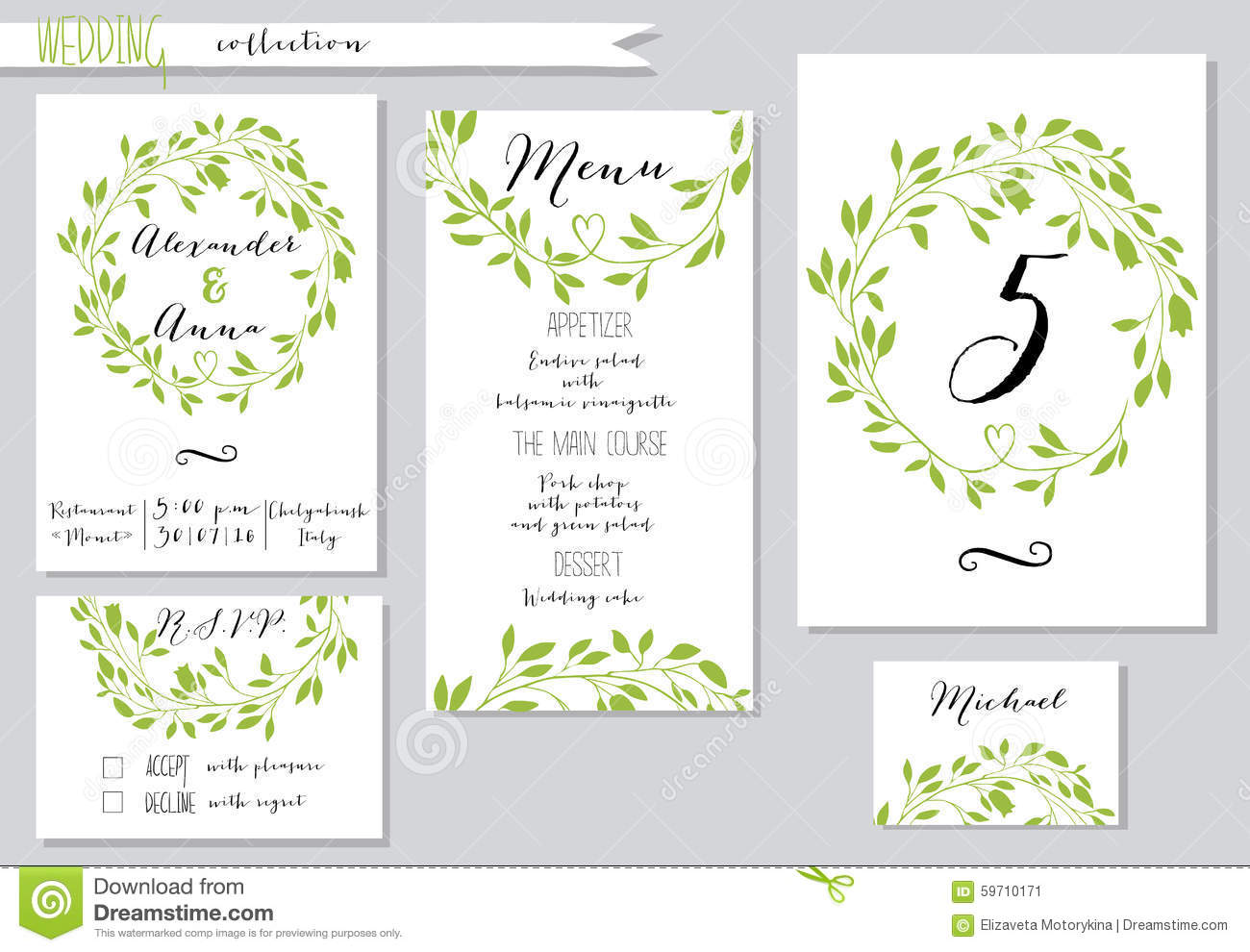 Vector Illustration Collection Of Wedding Stock Vector