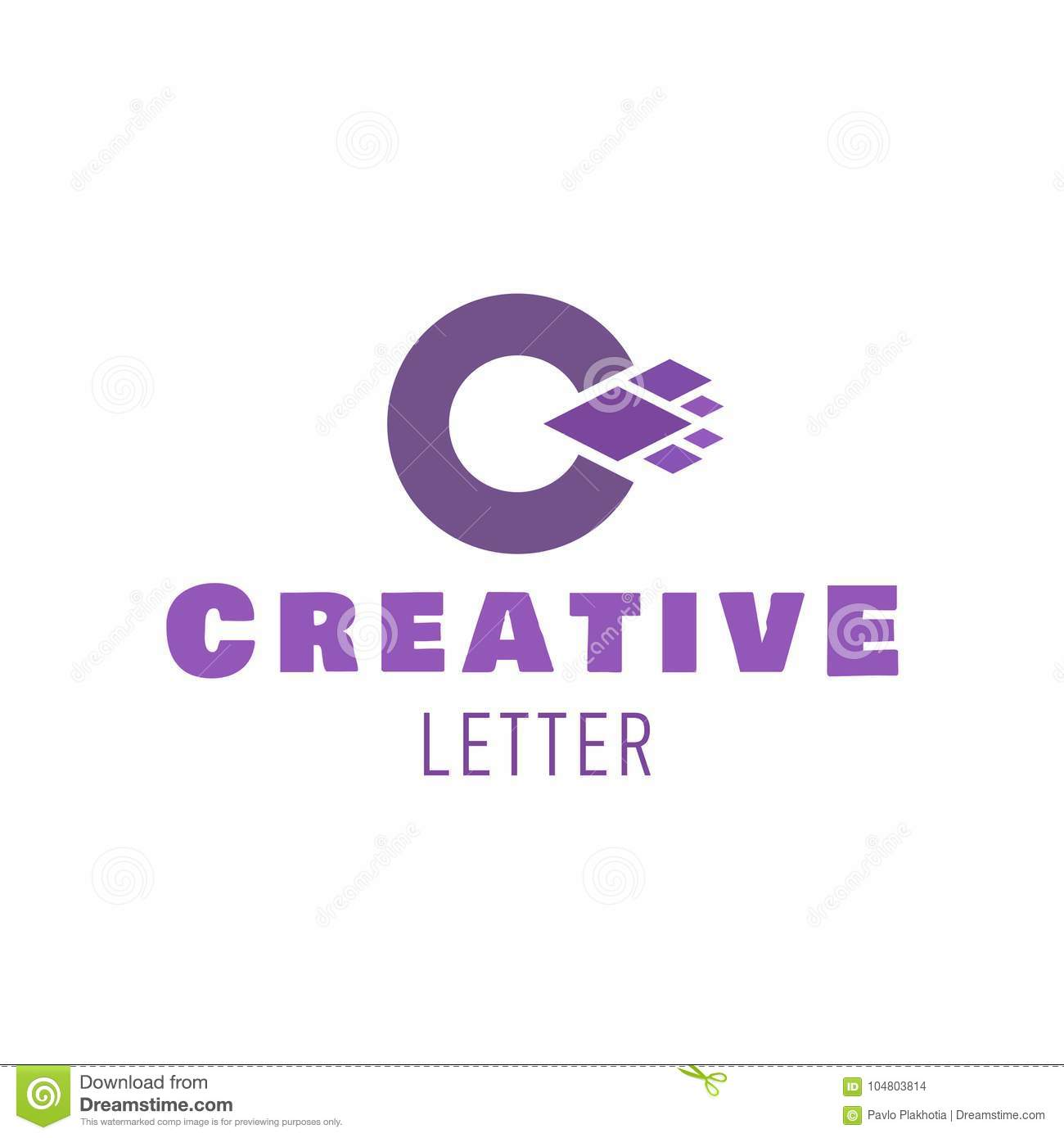 Letter C Symbol Vector Logo Design For Creative Company Stock Vector Illustration Of Background Fashion 104803814