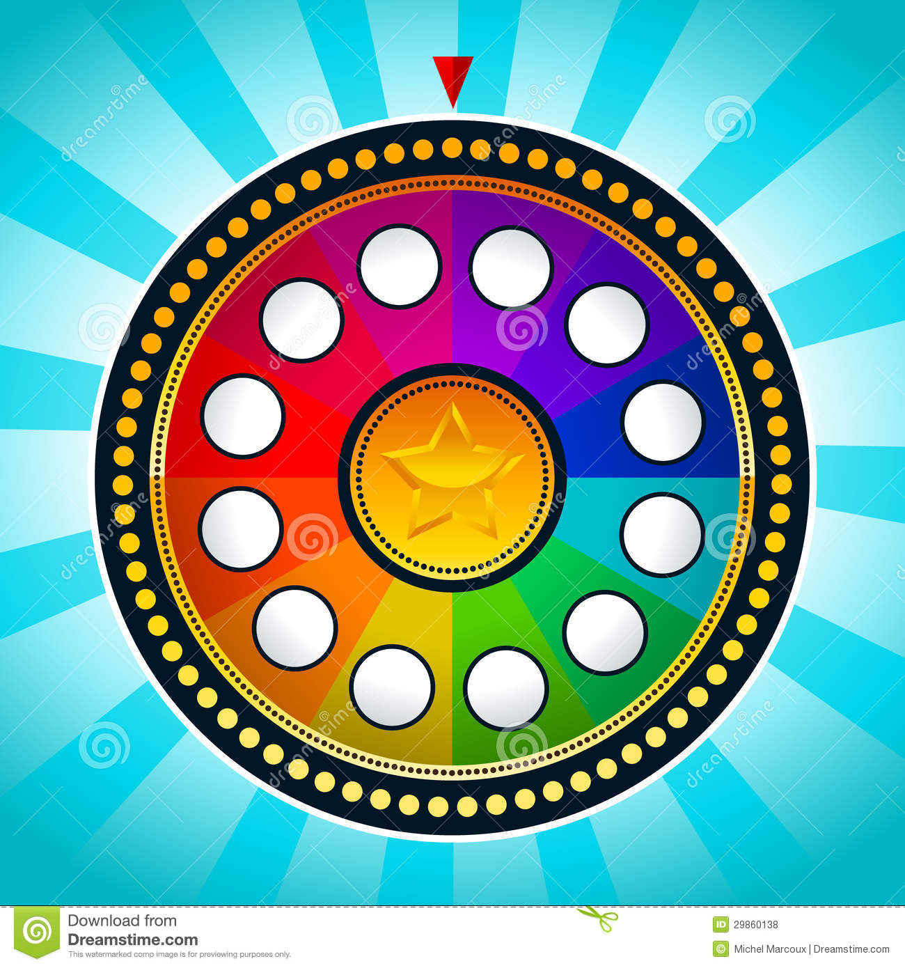 colorful wheel of fortune stock vector illustration of illustration 29860138. Black Bedroom Furniture Sets. Home Design Ideas