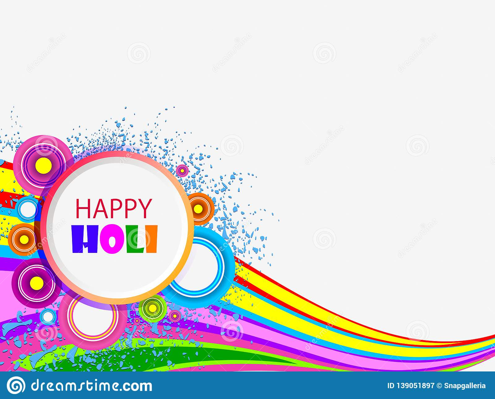 Vector Illustration Of Colorful Splash For Holi Background