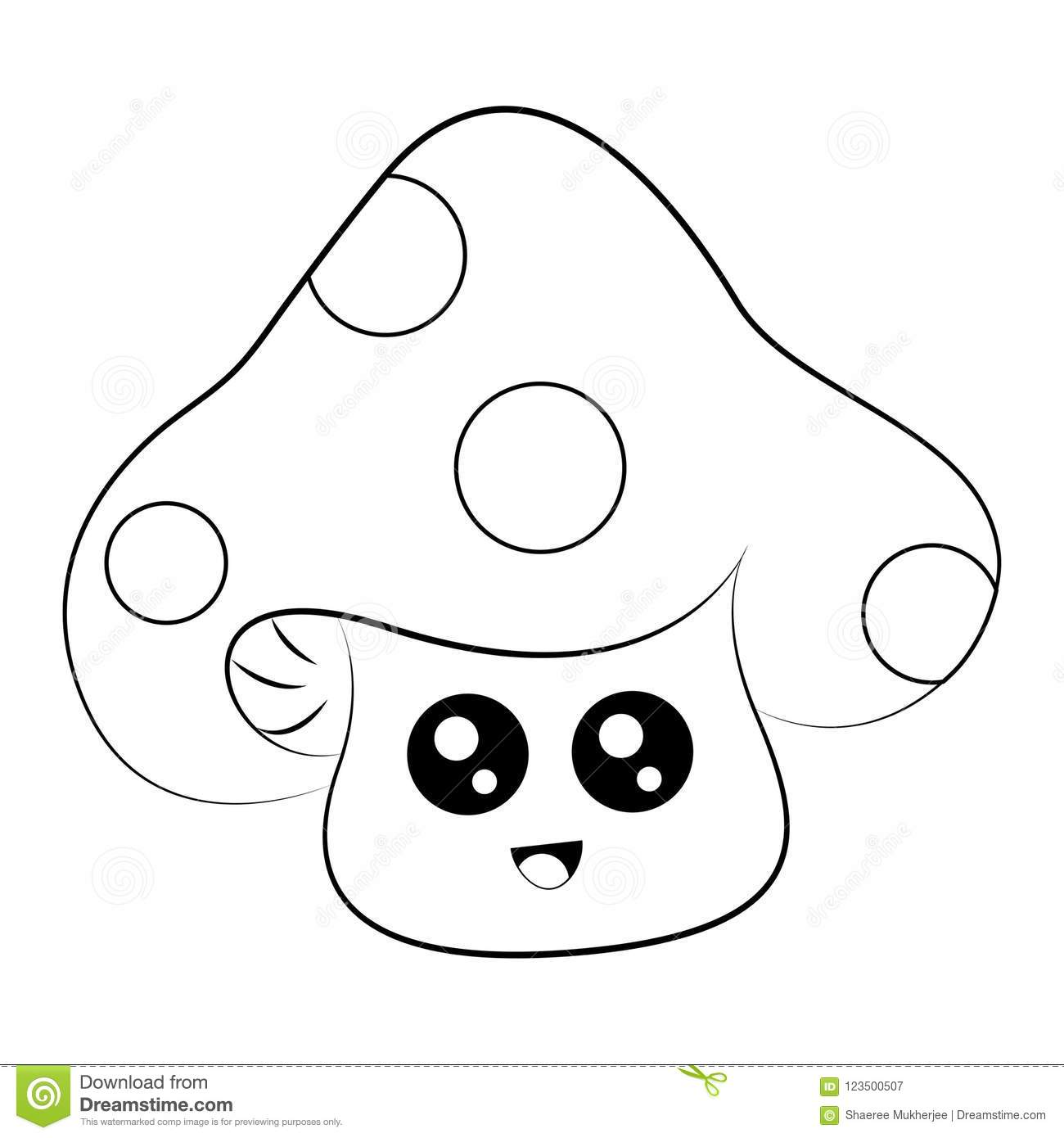 cartoon mushrooms coloring pages - photo#16