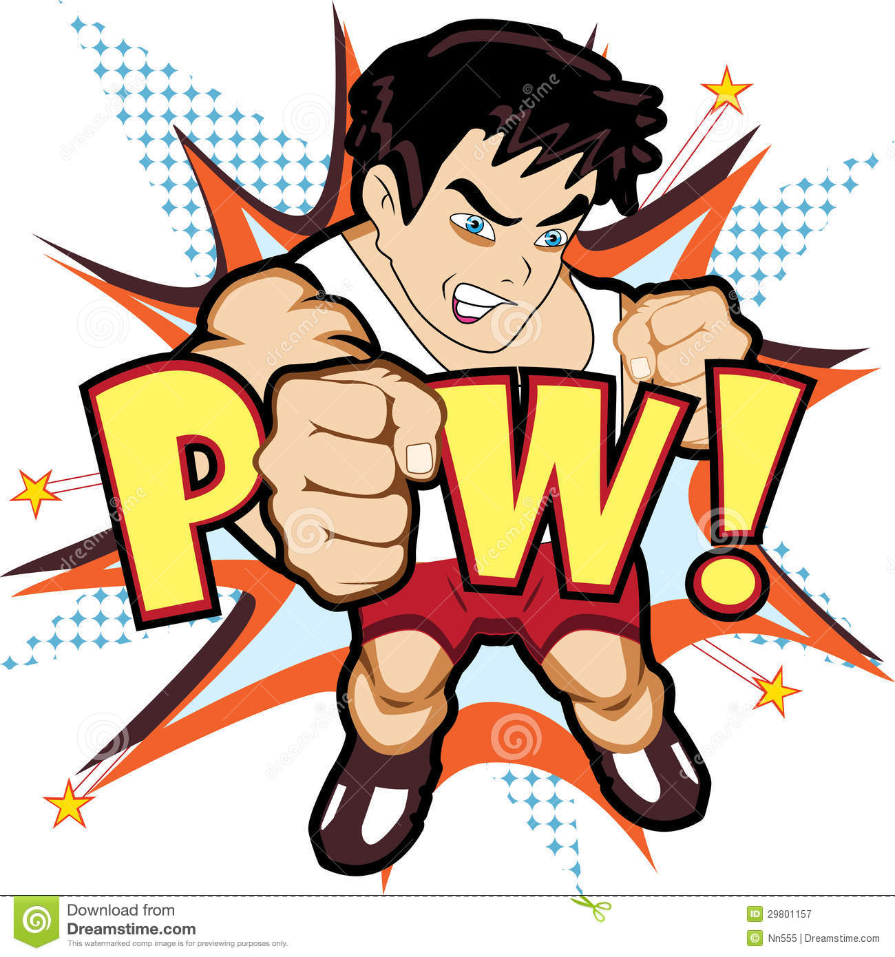Fighter Punch Character Royalty Free Stock Photography