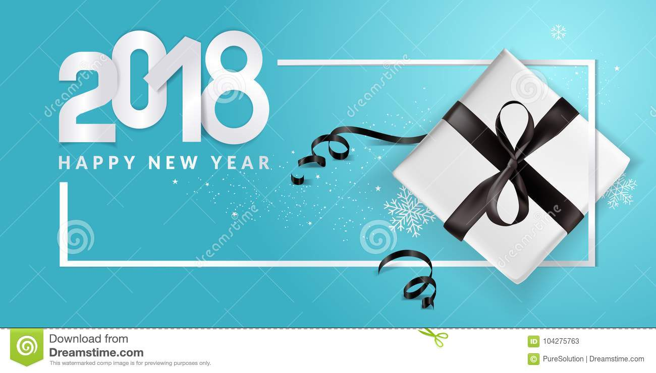 Elegant New Years Greeting Card Stock Vector Illustration Of