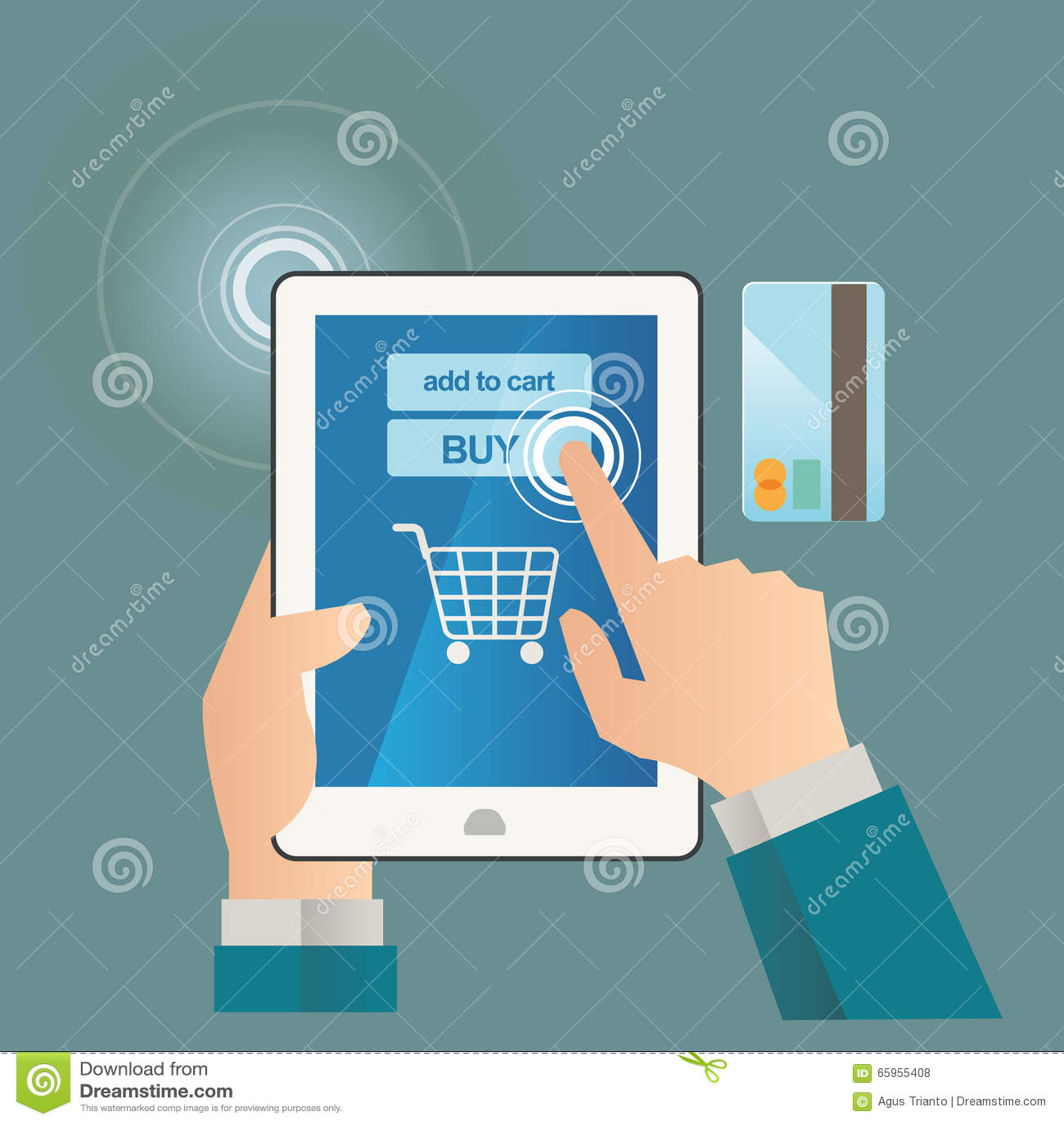 Vector Illustration Concept For On Line Store. Digital Marketing ...
