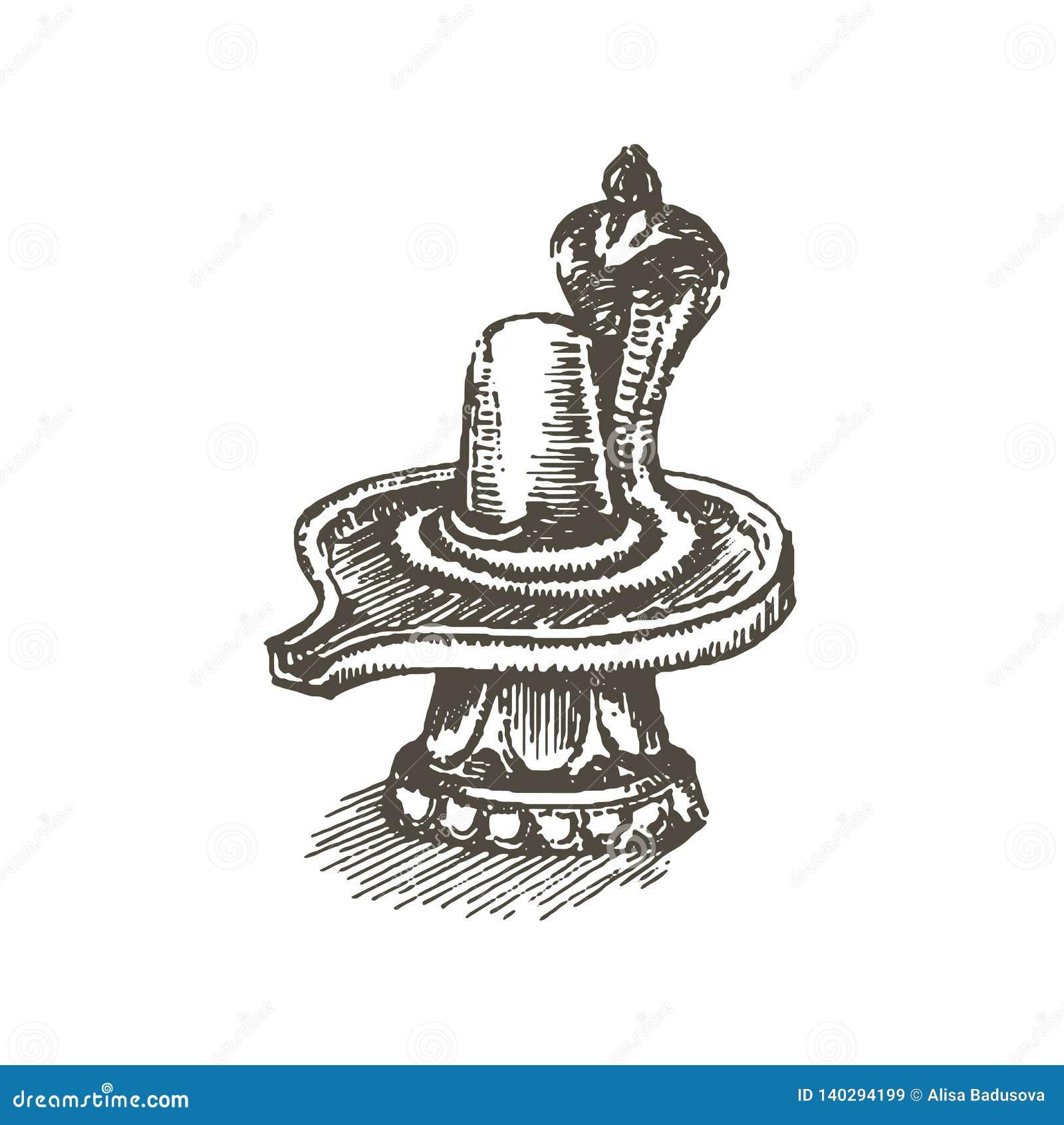 Shiva Lingam Stock Illustrations 426 Shiva Lingam Stock