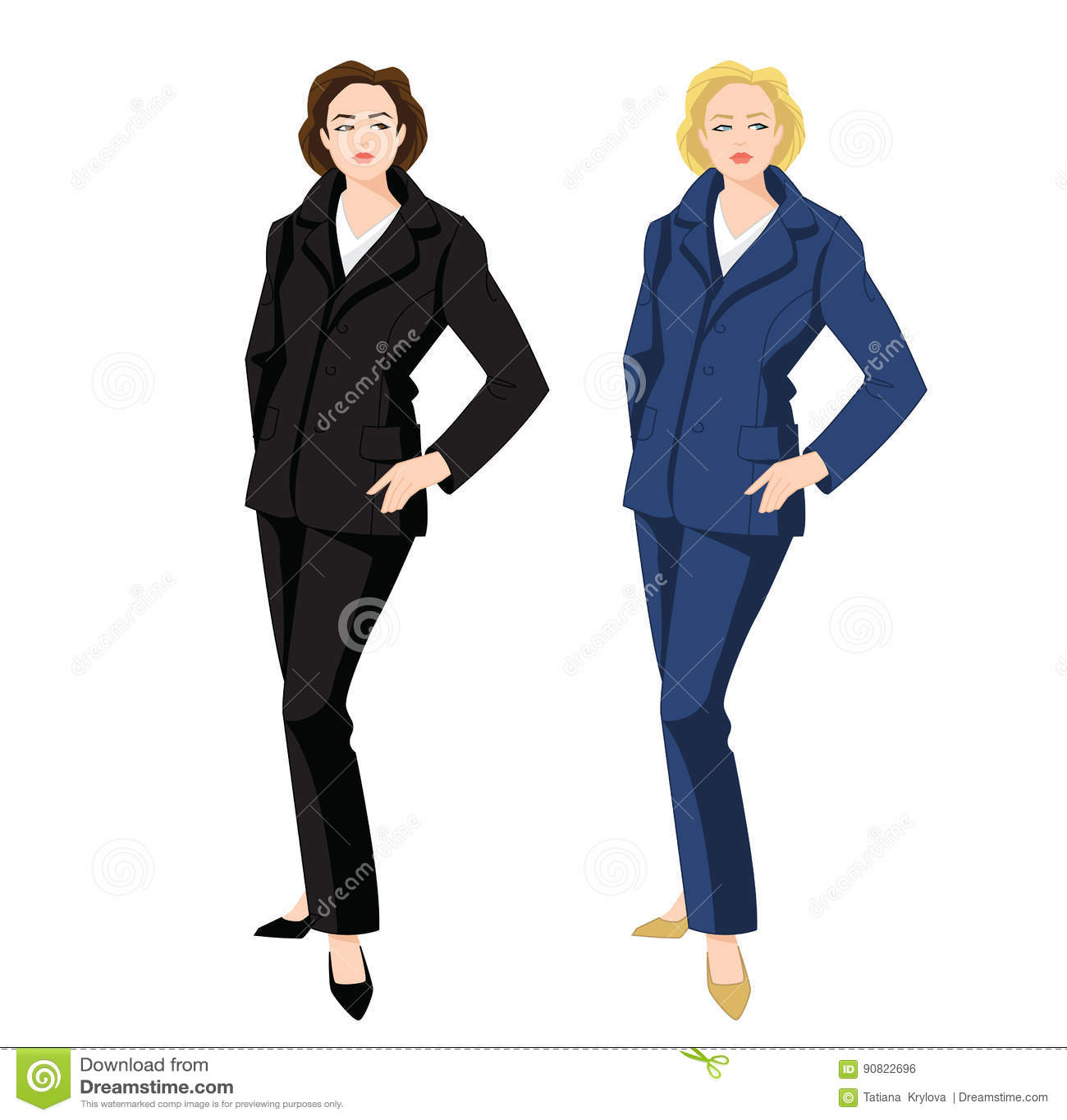 Vector Illustration Of Corporate Dress Code. Stock Vector ... 5624fef03