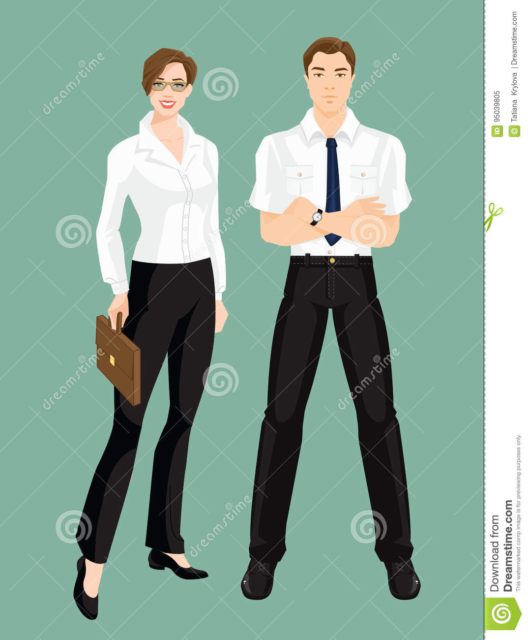Vector Illustration Of Corporate Dress Code Stock Vector