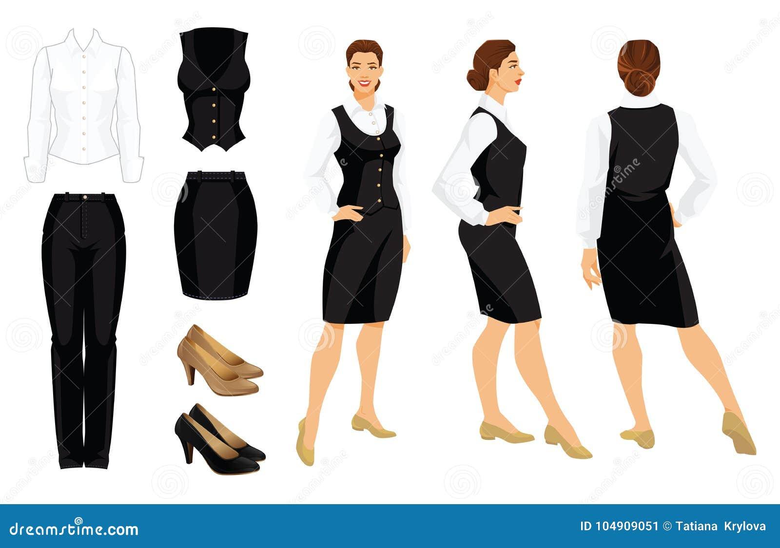 9c10e0c087ee Vector Illustration Of Corporate Dress Code. Stock Vector ...