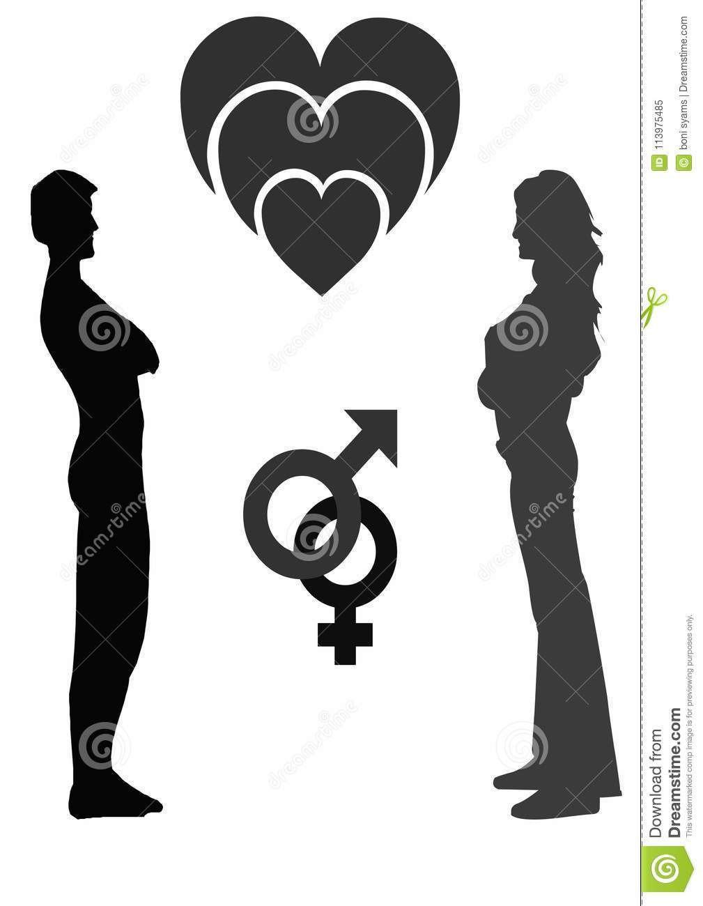 Couple Men And Women X28black And White X29 Stock Illustration