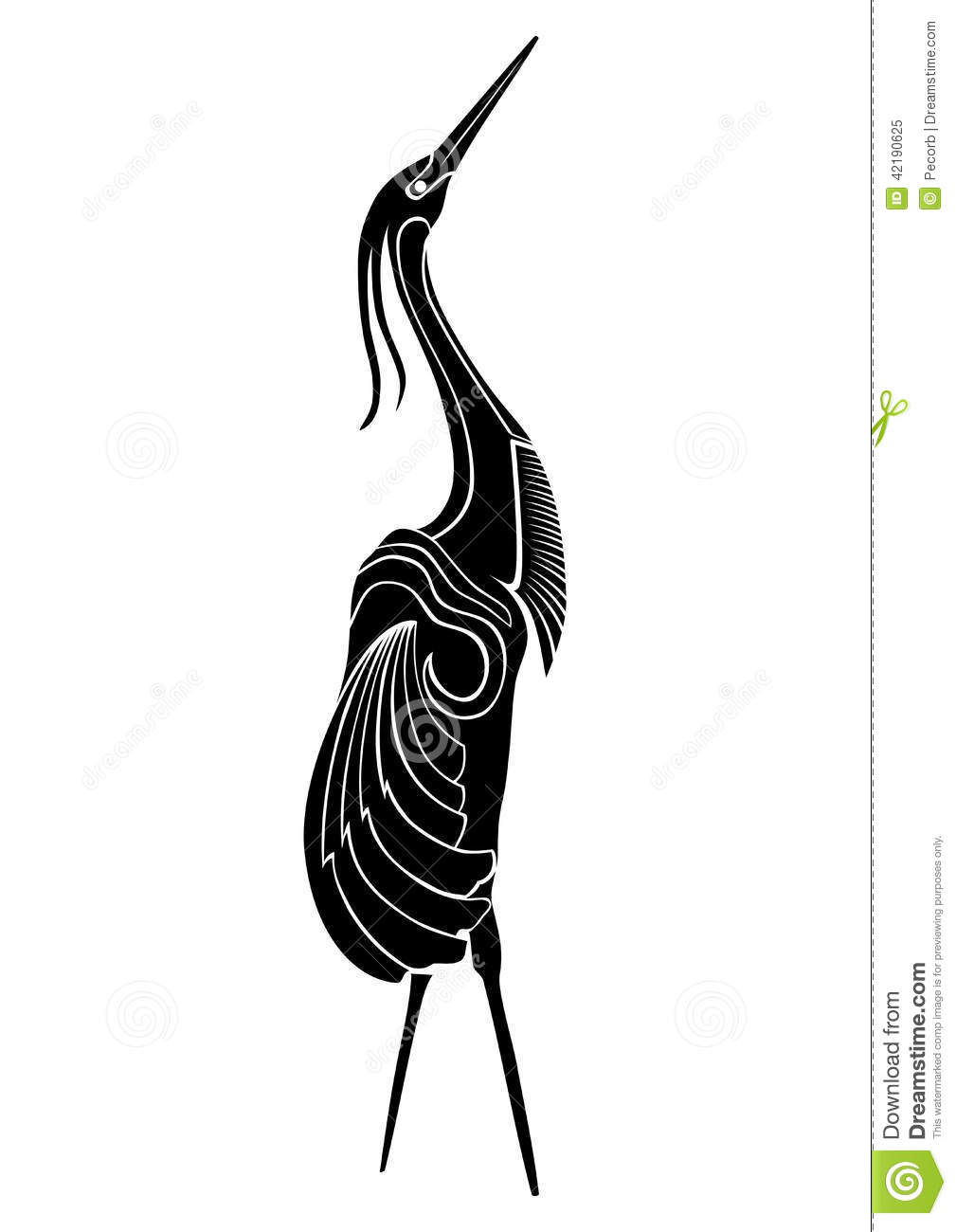 vector illustration of cranes bird stock vector image 42190625