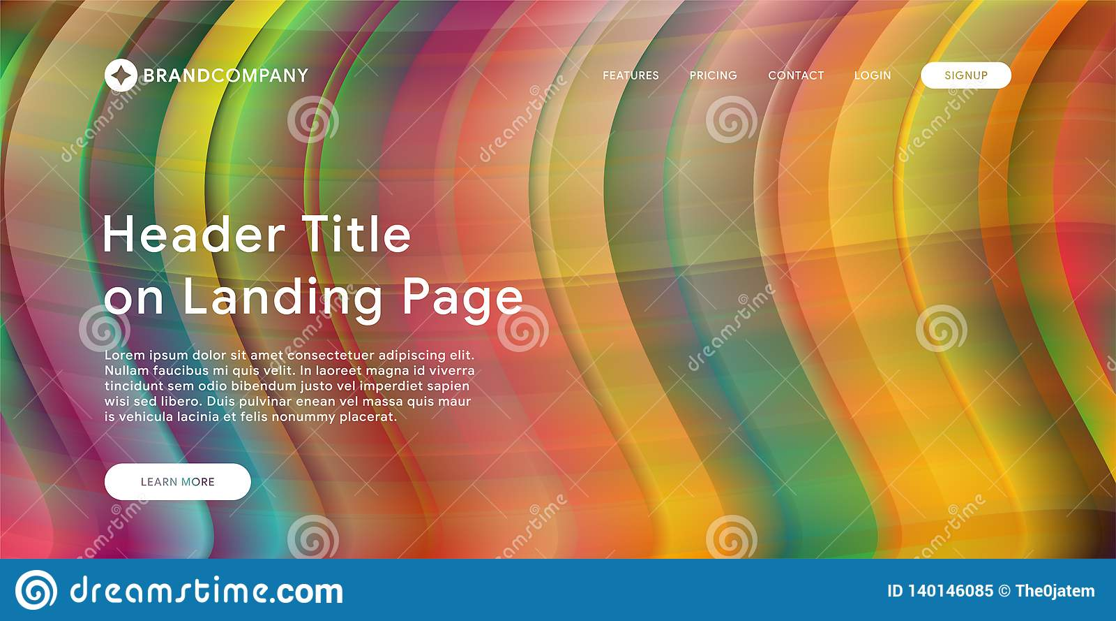 Vector illustration of Creative design with fluid colorful shapes. Trendy color gradients. Strip design. Fluid shapes composition