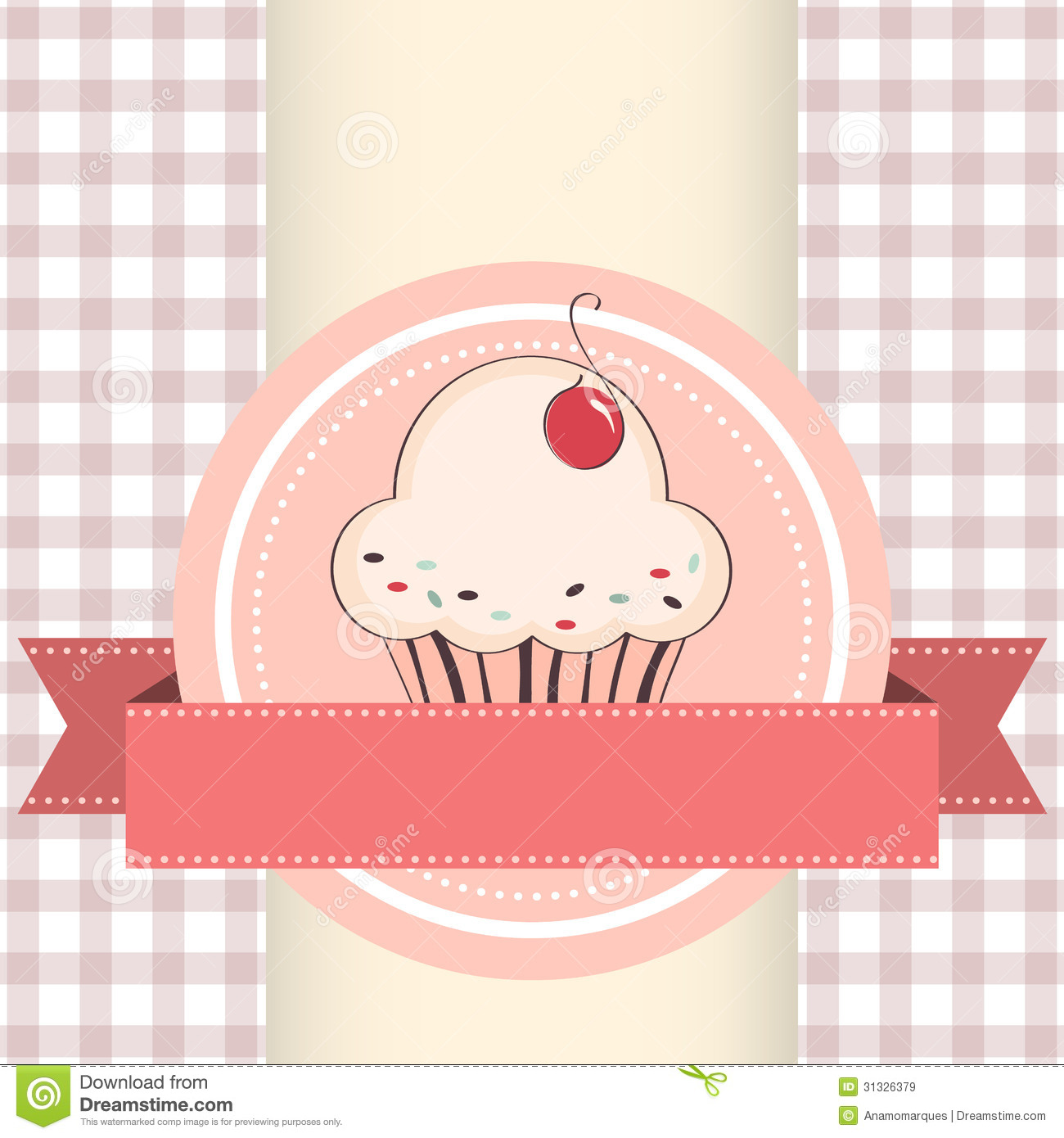Vector Illustration Of Cupcake Royalty Free Stock Images - Image ...