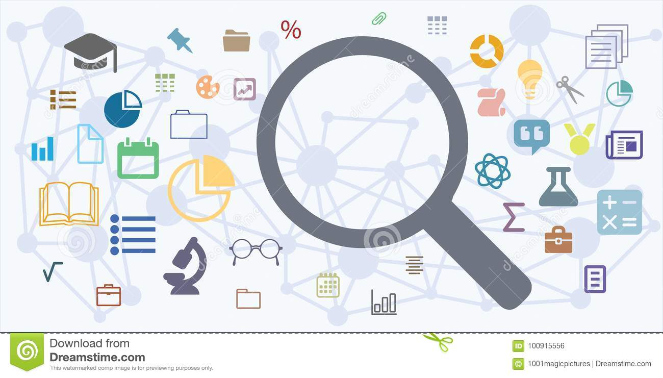 Search Magnifier Horizontal Stock Vector Illustration Of Internet