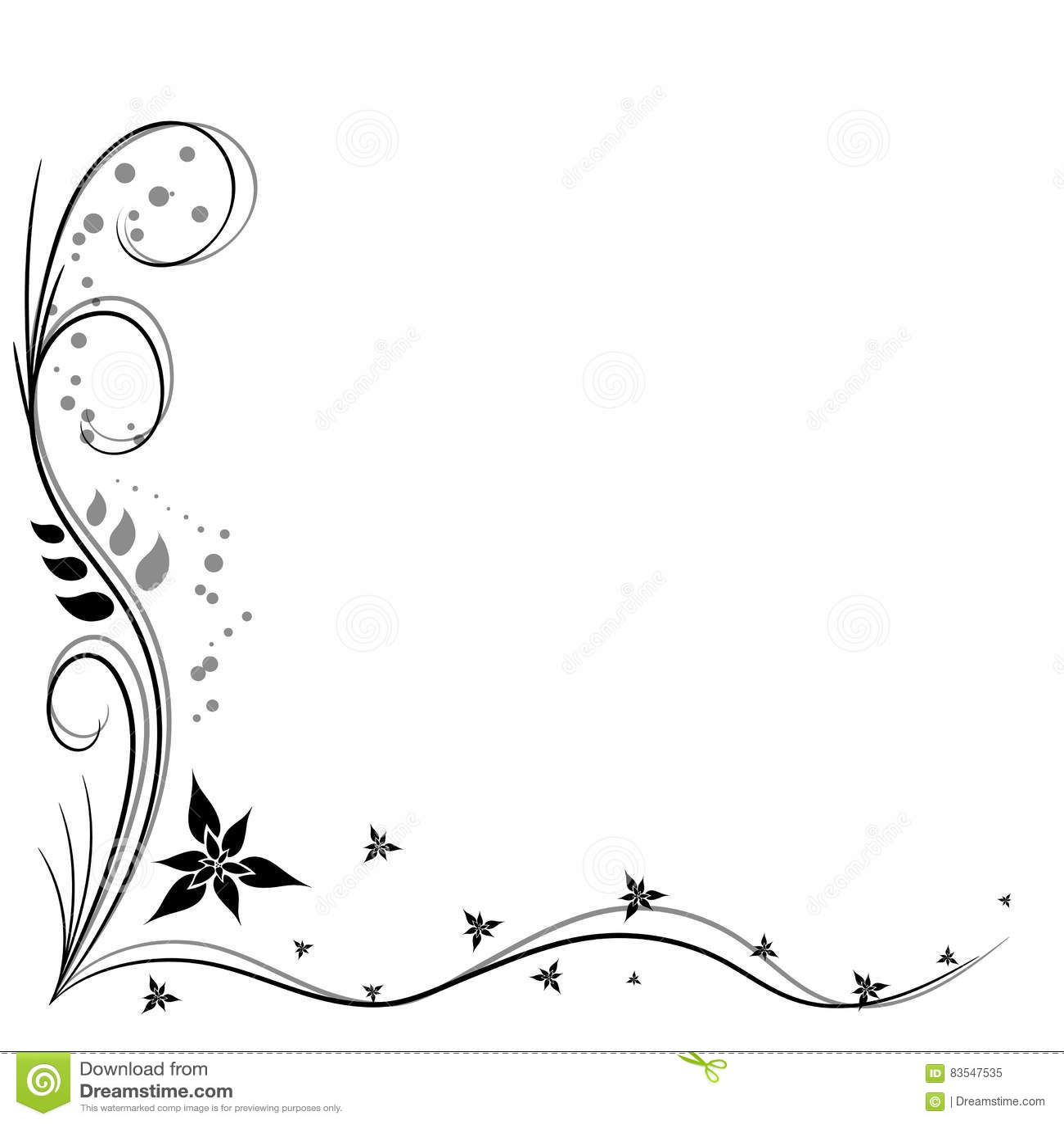 Decorative Corner. Vector Illustration | CartoonDealer.com ...