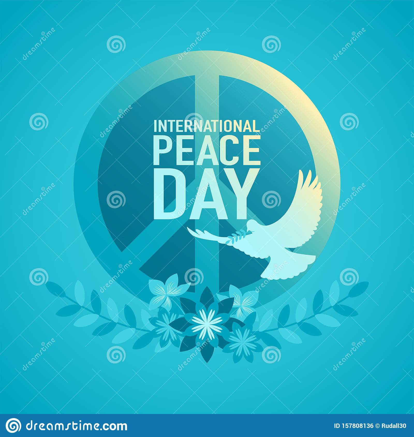 Decorative Peace Symbol for International Day of Peace