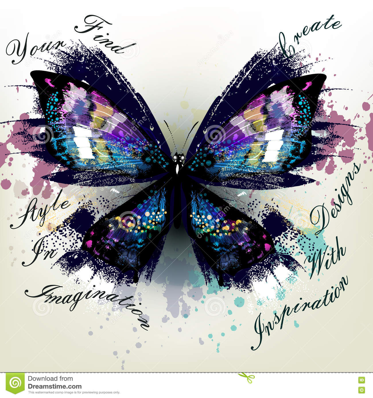 Vector illustration with detailed butterfly symbol of inspiration vector illustration with detailed butterfly symbol of inspiration biocorpaavc Images
