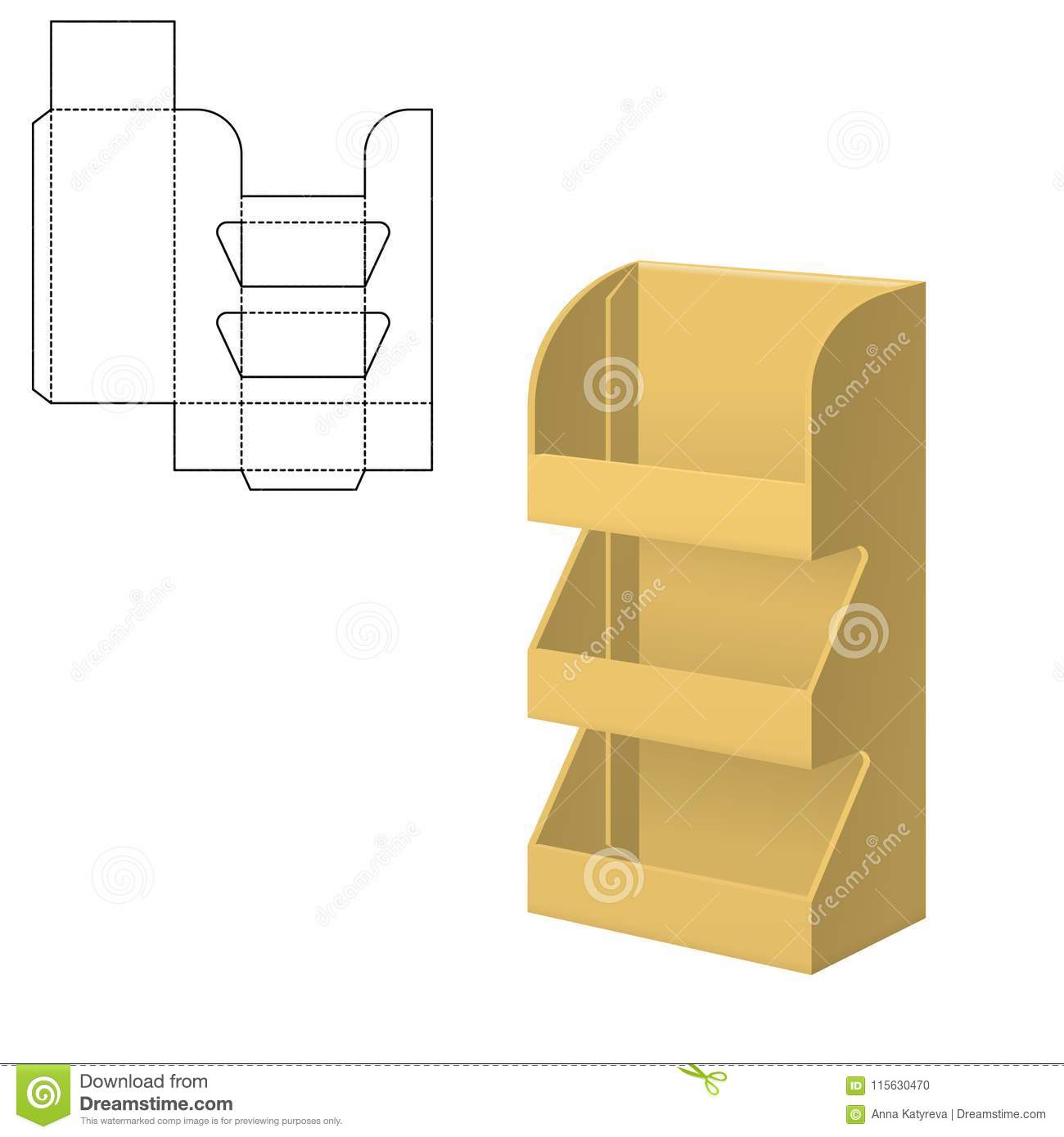 Folding Package Template Stock Vector Illustration Of Packaging