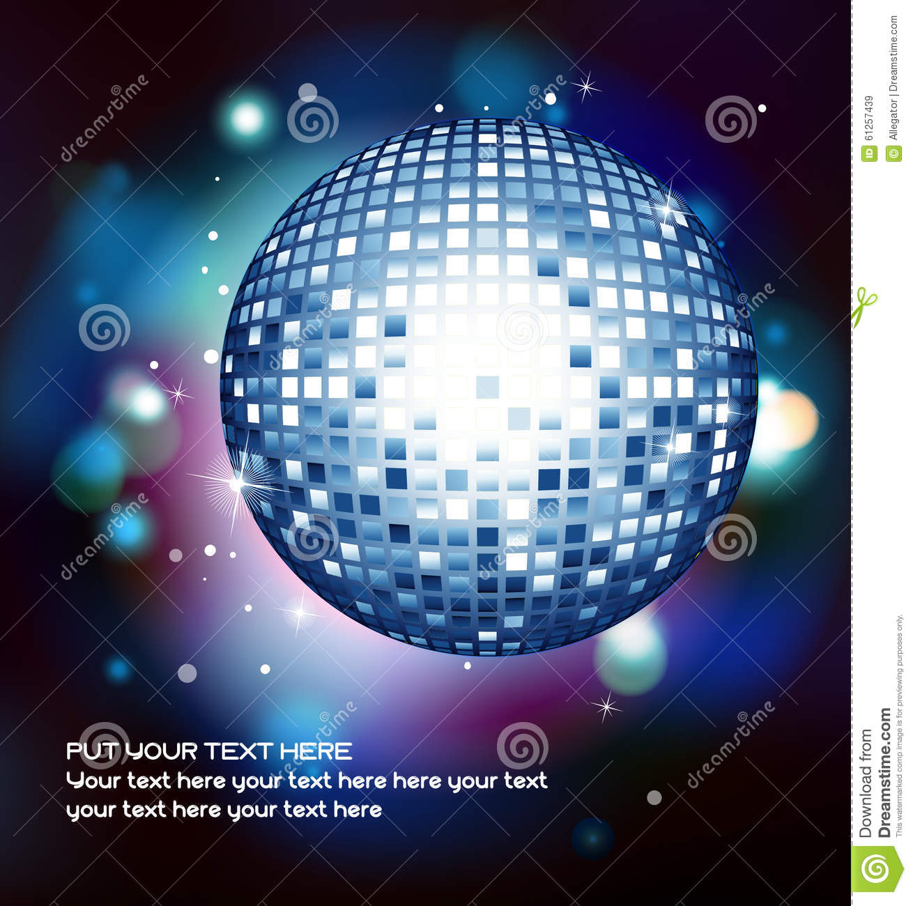 Vector illustration with a discoball