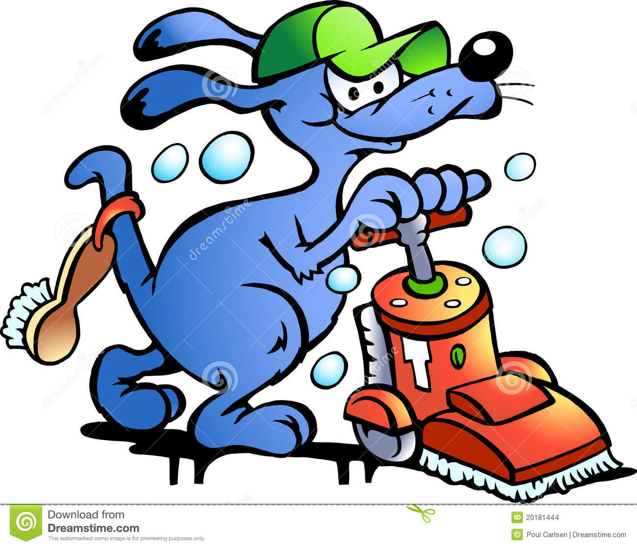 Vector Illustration Of An Dog Carpet Cleaner Stock Vector