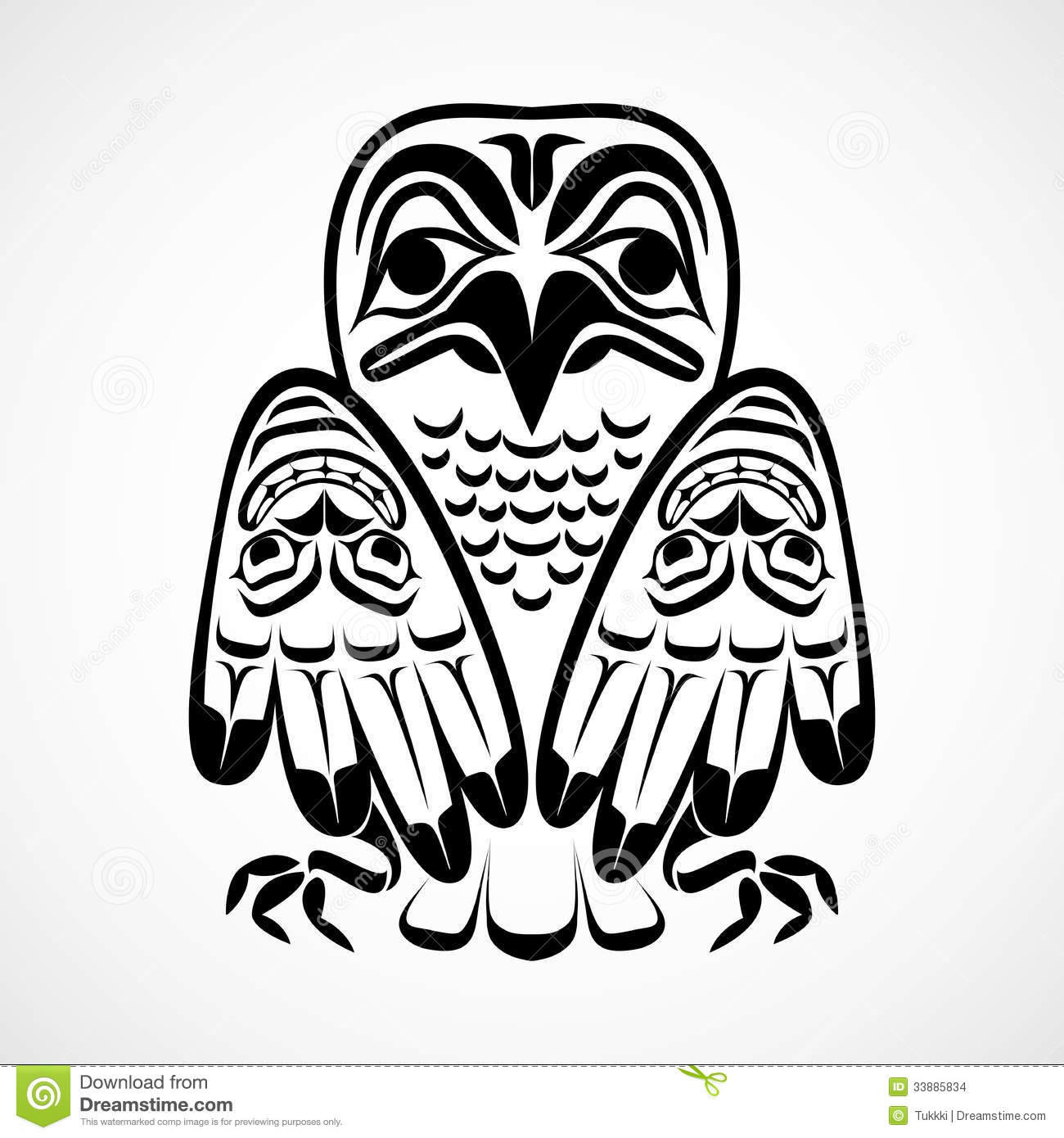 vector illustration of an eagle stock vector illustration of haida first 33885834. Black Bedroom Furniture Sets. Home Design Ideas