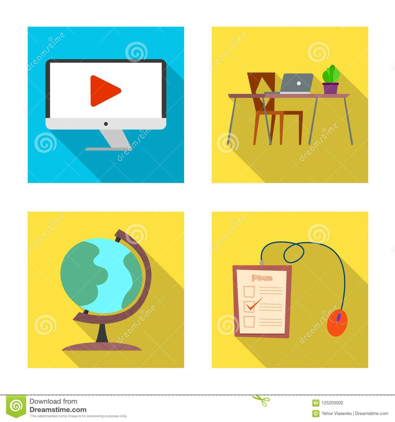 Vector Illustration Of Education And Learning Sign Set Of Education